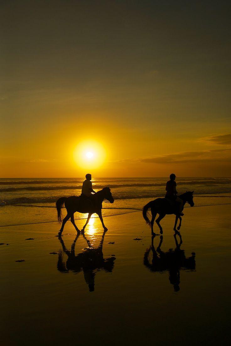Lonely rider, Kuta, Bali