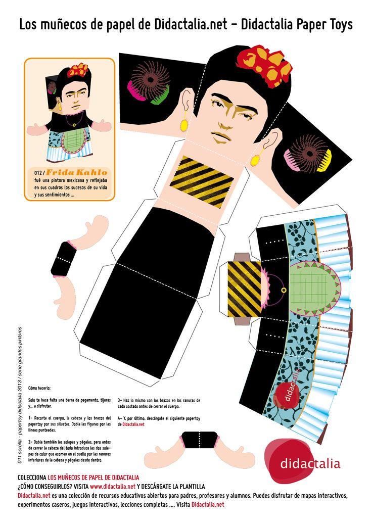 Classroom Design Ideas For Middle School ~ Frida kahlo papertoy graphic design by quique fdez