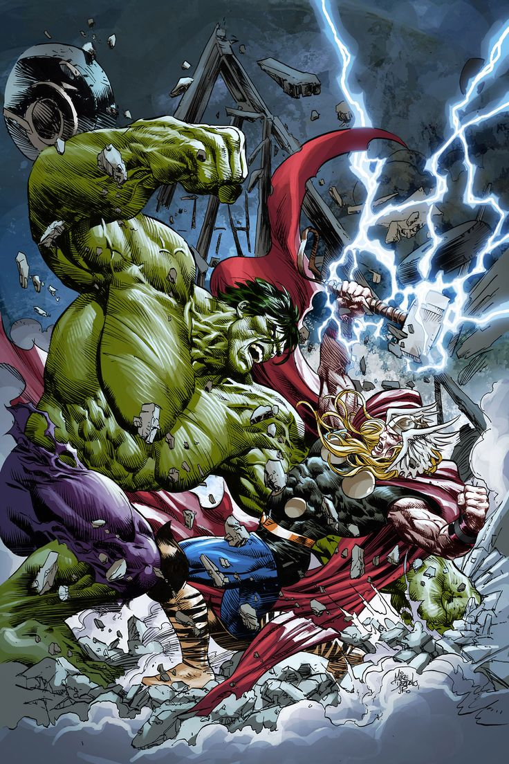 Thor vs The Hulk by Mike Deodato Jr. *