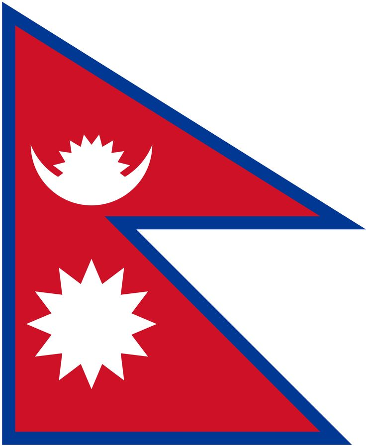 this is the flag of nepal it is red wight and blue - Flag Design Ideas