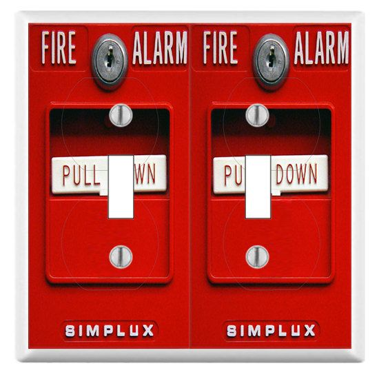 Fire Alarm Switch Plate Wall Plate Cover Mancave Gag