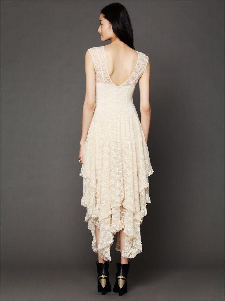 Boho Chic Bohemian Fashion hippie Style Asymmetrical Embroidery Sheer lace…