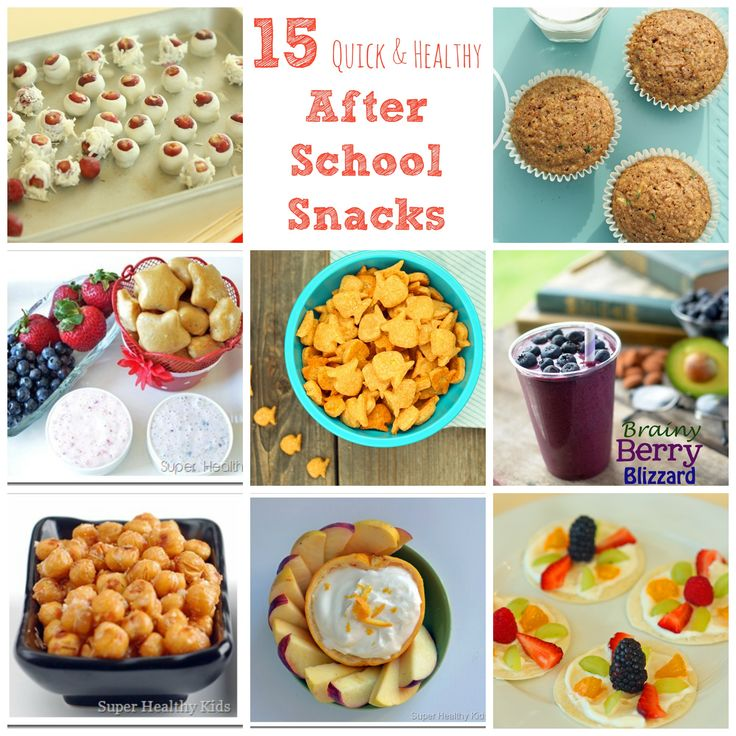 Make snacks ahead of time to have ready for when your kids come running through the door hungry after school! #healthysnacks #afterschoolsnacks from Super Healthy Kids