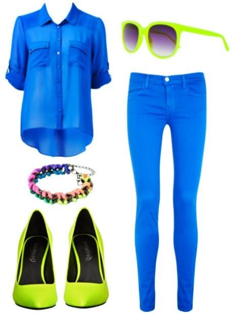 Cute with a neon yellow belt!!