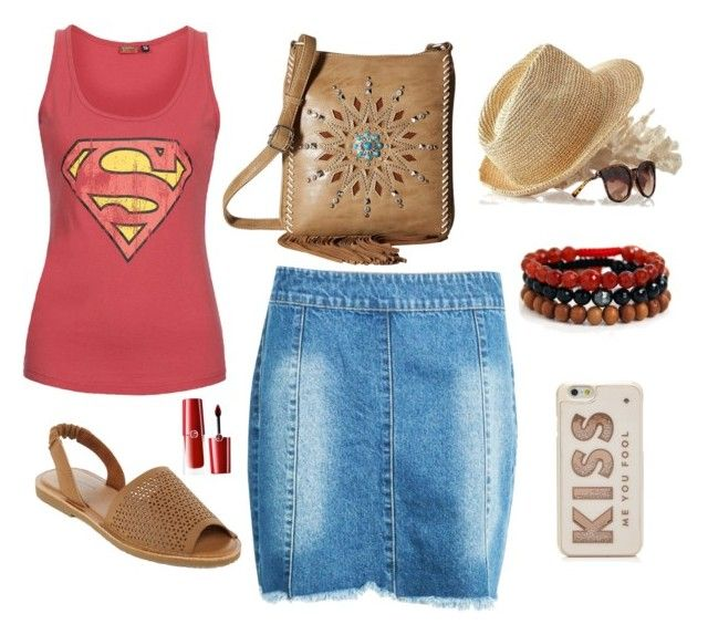 """""""Lazy Sundays"""" by lorainejh on Polyvore featuring Boohoo, Sublevel, M&F Western, Arizona, Mark & Graham, Blooming Lotus Jewelry, Kate Spade and Giorgio Armani"""
