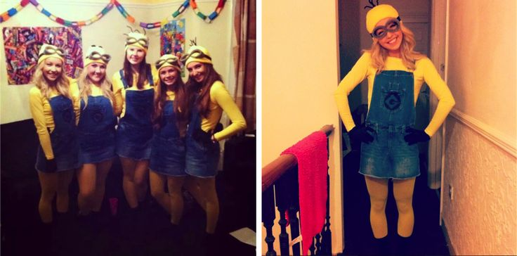 DIY homemade Minion Group fancy dress Costume yellow Minions despicable me how to make guide