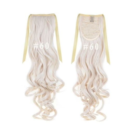 22-034-100g-Synthetic-Kanekalon-Hair-Ponytail-Curly-Weft-Clip-On-Hair-Extensions