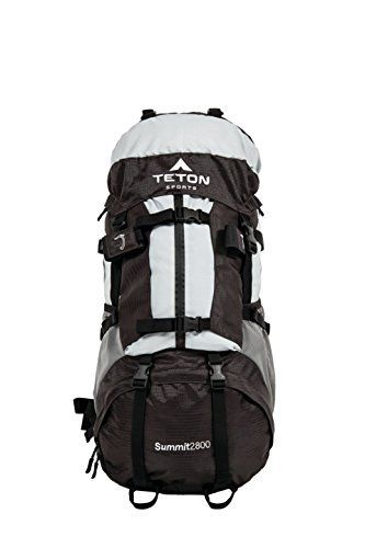 TETON Sports Summit 2800 Ultralight Internal Frame Backpack; Backpacking Gear; Hiking Backpack for Camping, Hunting, Mountaineering, and Outdoor Sports; Free Rain Cover Included by Teton Sports. TETON Sports Summit 2800 Ultralight Internal Frame Backpack; Backpacking Gear; Hiking Backpack for Camping, Hunting, Mountaineering, and Outdoor Sports; Free Rain Cover Included. 26.5-Inch x 13-Inch x 10-Inch.