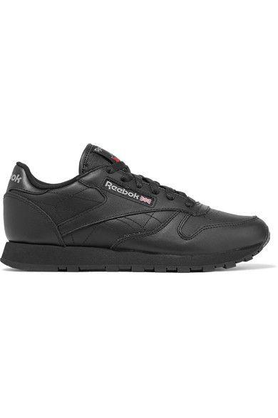 Reebok - Classic Leather Sneakers - Black - US7.5