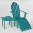 adirondack chair: Adirondack Chairs, Patio Chairs, Backyard, Blue Colors