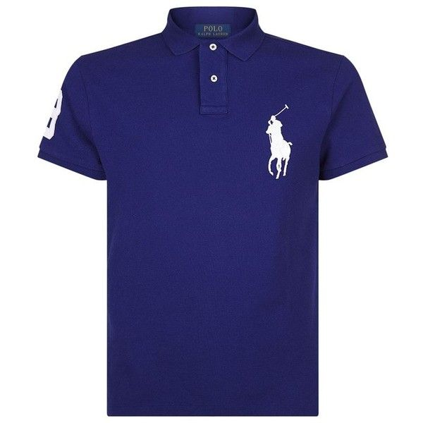 Polo Ralph Lauren Large Crest Polo Top ($135) ❤ liked on Polyvore featuring men's fashion, men's clothing, men's shirts, men's polos, mens embroidered shirts, mens polo shirts, mens long sleeve shirts and mens long sleeve polo shirts