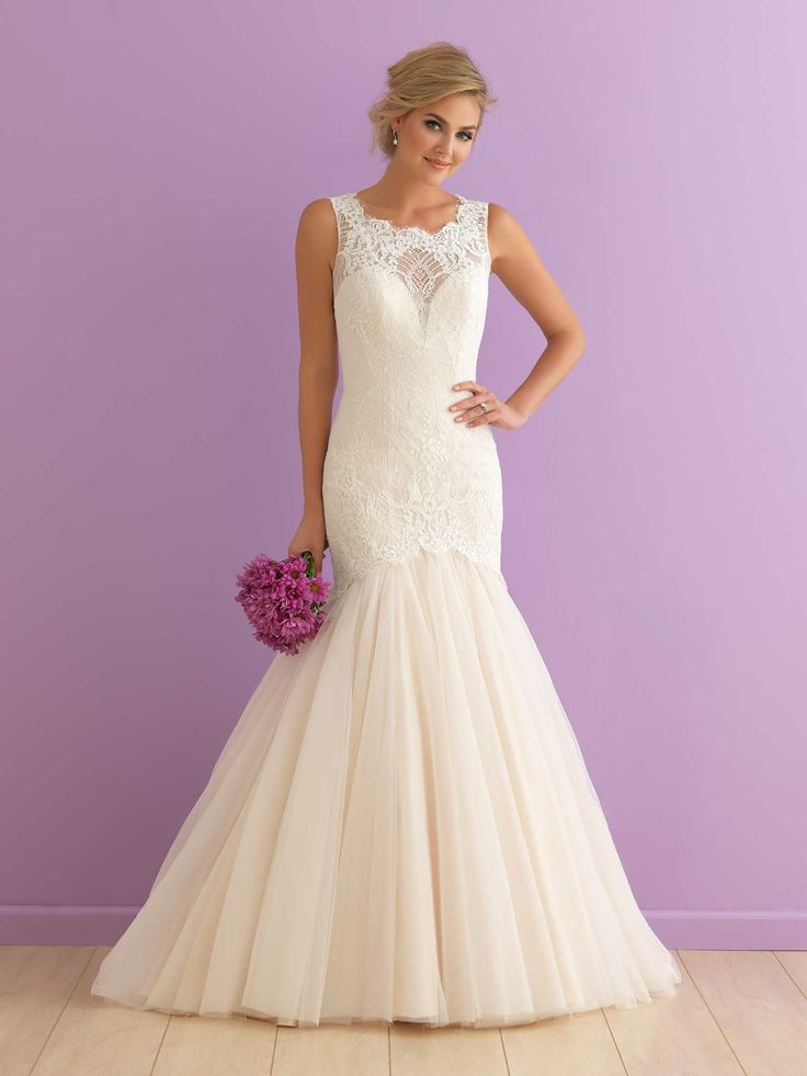 At Jenny's Bridal now!  Colour: Champagne with Ivory lace wedding dress size 14
