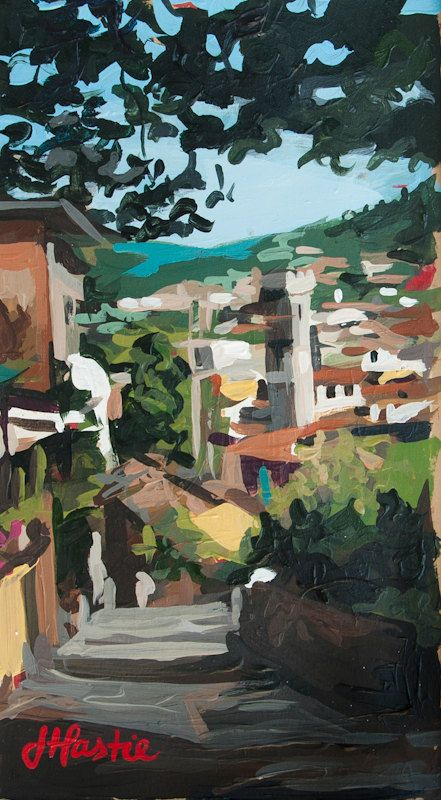 Fiesole Lookout Italy no. 2 6 x 11 Original by JoanneHastie