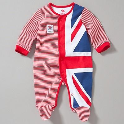 Team GB Flag Sleepsuit