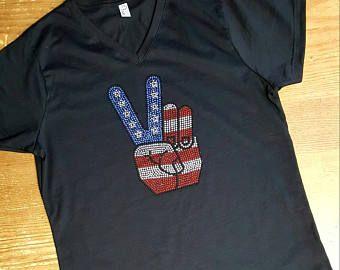 Image result for bling american flag shirt