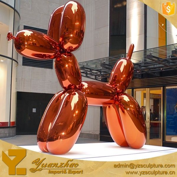 home decorative stainless steel balloon dog sculpture
