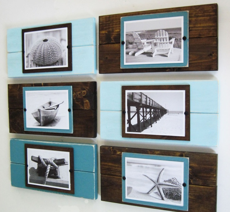 set of six coastal plank frame set for 57 photos