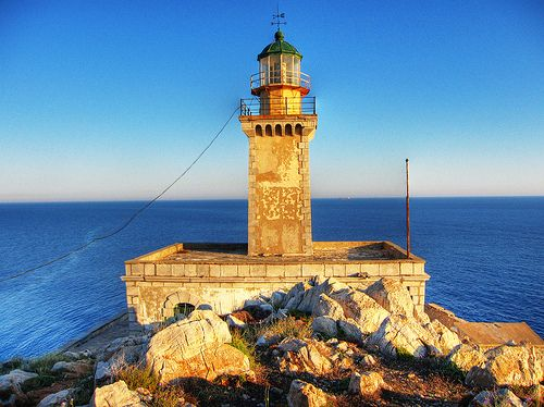 the lighthouse @ Tainaro Peloponnesus Greece