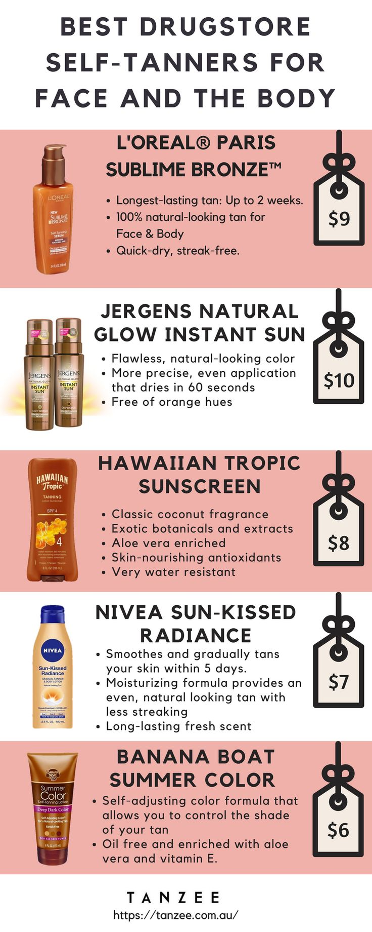 Get Glowing! Best Drugstore Self-Tanners for the most perfect fake tan on budget