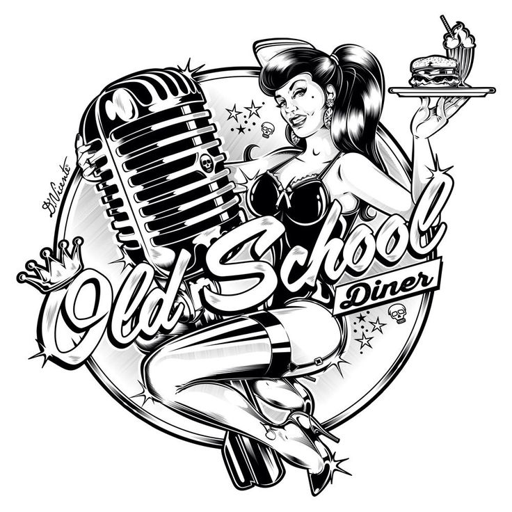 Biker School Tattoos Old Vintage