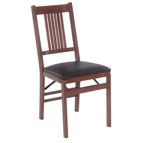 Stakmore Company, Inc. True Mission Wood Folding Chair with Vinyl Seat $112.99 (for set of 2 Items items)