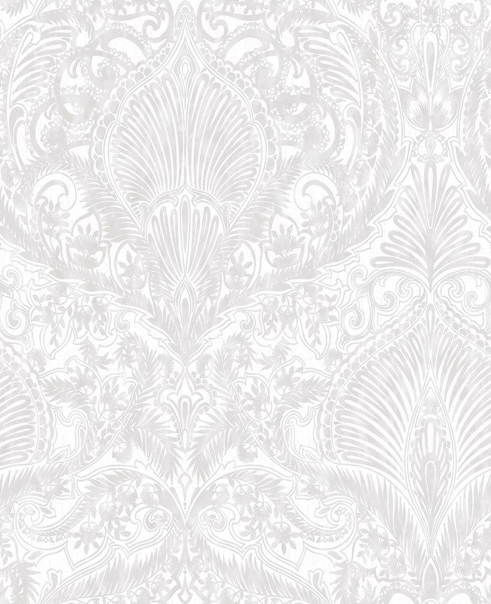 Burlesque White Wallpaper by Graham and Brown
