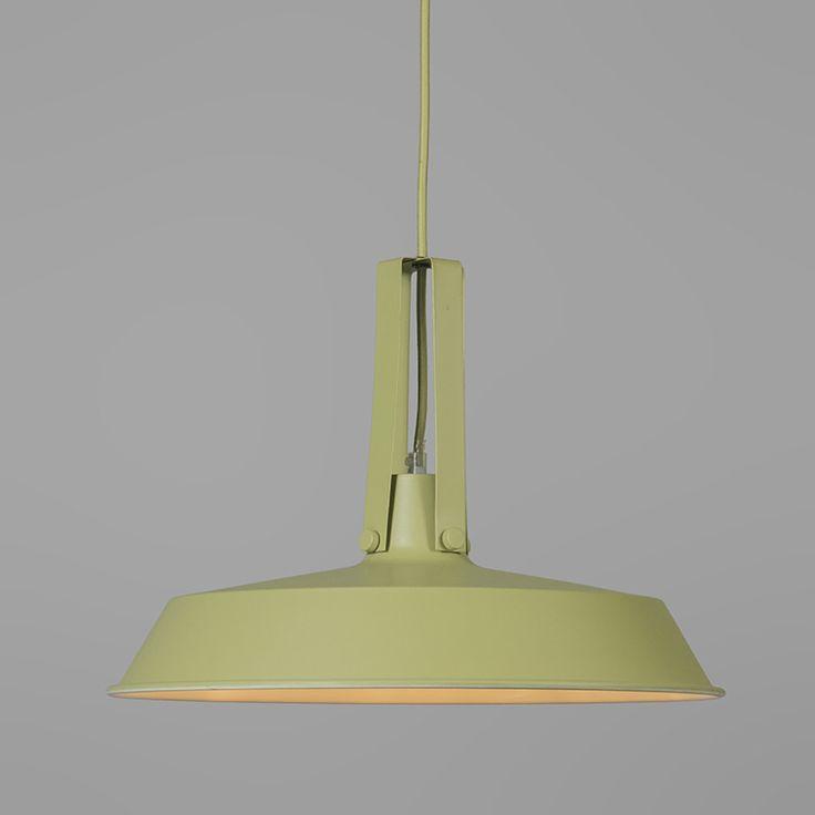 Hanglamp Living 40cm Mintgroen · Grüne LampeInnenbeleuchtungSchirm LackierenIndustrieMetallWohnenSalons