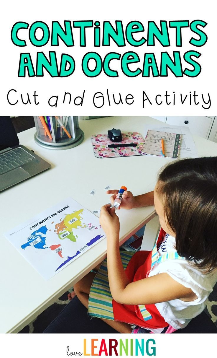 Continents and Oceans Cut and Glue Activity. If you are teaching your students about the Continents and Oceans of the World, this cut and glue activity activity is a fun activity, assessment, or homework assignment.