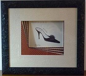 Diy drap chaussure noire encadrement d 39 art diy pinterest - Techniques d encadrement gratuit ...