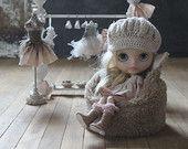 Mini ours en peluche Bean Bag, fausse fourrure pour poupées ~ Blythe, Lati Yellow, Pullip, Pukifee, Middie, Monster High