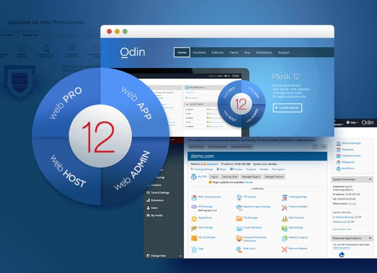 Odin Adds UX Enhancements, Security Options and WordPress Toolkit in Latest Plesk Release ~~~~~~~~~~~~~~~~~~~~~~ The latest version of Plesk, the most widely used web server and website management tool, features an enhanced user interface, improved security, and add-ons, as well as new up-sell opportunities for cloud service providers. Source:http://goo.gl/ZeT6x9
