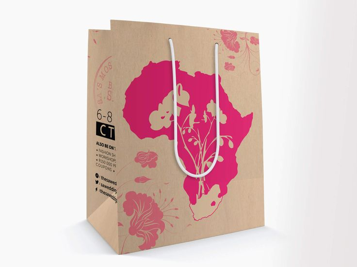 Expo carrier bag for The South African Wedding Show by Pink Pigeon Graphic Design © www.pinkpigeon.co.za