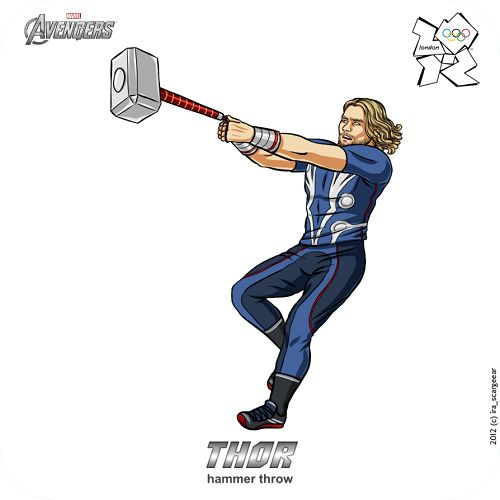 Thor at the Olympic Games, The Avengers