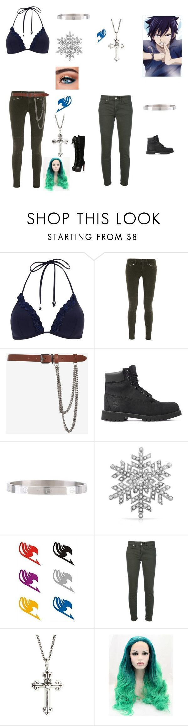 """""""My oc and Gray"""" by angle12345 ❤ liked on Polyvore featuring River Island, rag & bone/JEAN, Barbara Bui, Timberland, Bling Jewelry, Anastasia Beverly Hills, Dondup and King Baby Studio"""