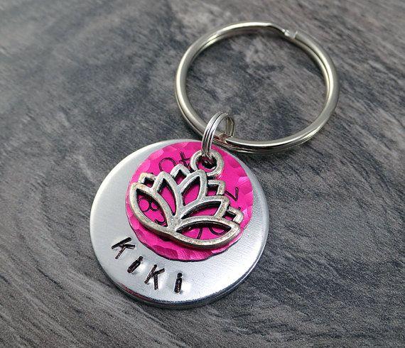 Pink Pet Tags - Pink Dog Tag - Lotus Dog Tags - Lotus Pet Tag - Dog Tags - Dog ID Tags - Pretty Pet Tags - Colorful Pet Tags - Cute Pet Tags