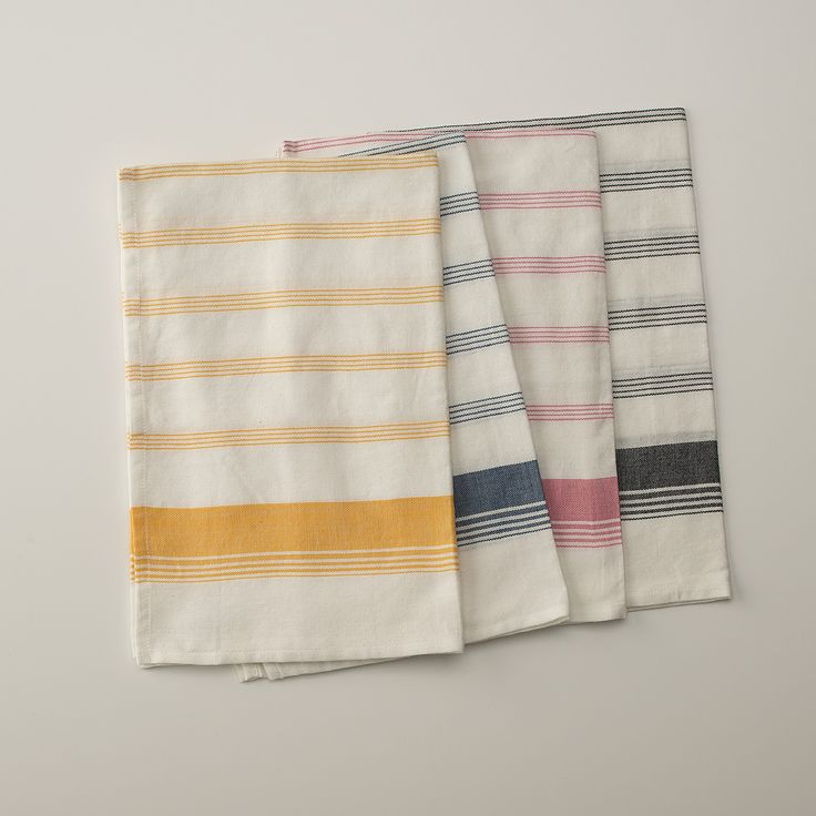 Display Nicer Kitchen Towels For A Quick Refresh, Swap Out Old Kitchen Rags  For Pretty Patterned Ones. These Striped Cotton Ones, Available.