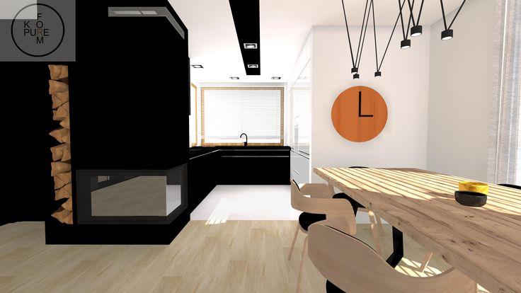 modern livingroom and kitchen http://www.kppureform.pl