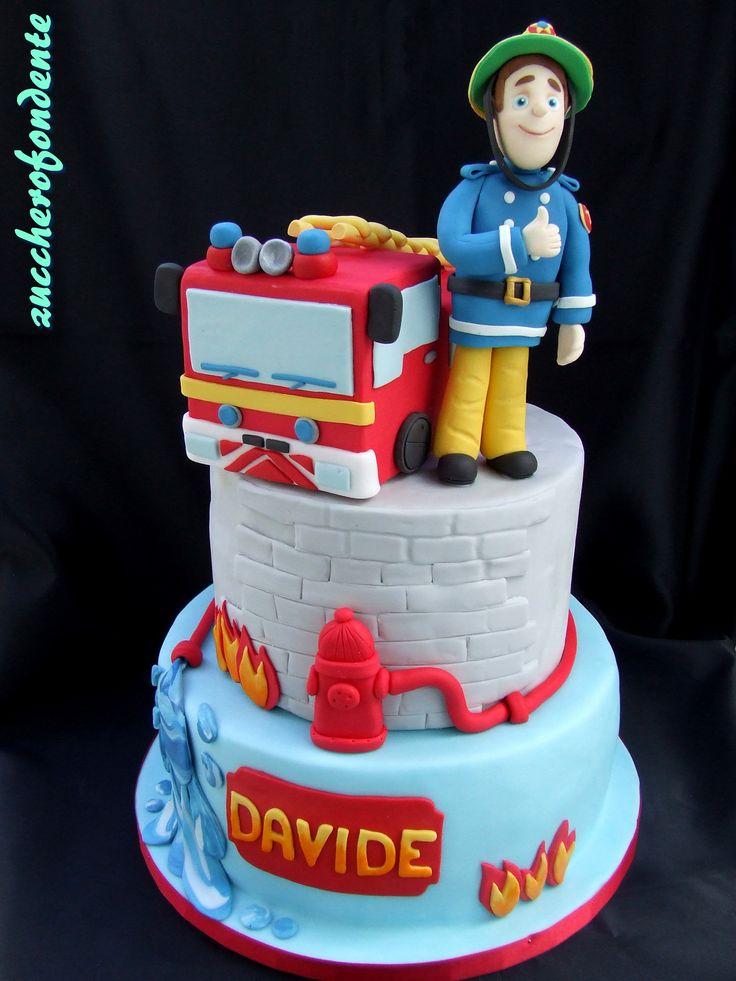 Torta Sam il pompiere http://zuccherofondente.blogspot.it/2016/12/torta-sam-il-pompiere.html