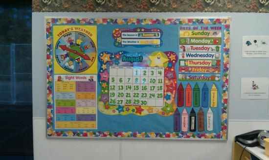 Preschool Back To School Ideas | Back To School Calendar Bulletin Board Idea