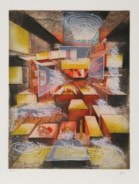 Roberto Matta, Hom'mere IV: Point D'Appui 10, 1982