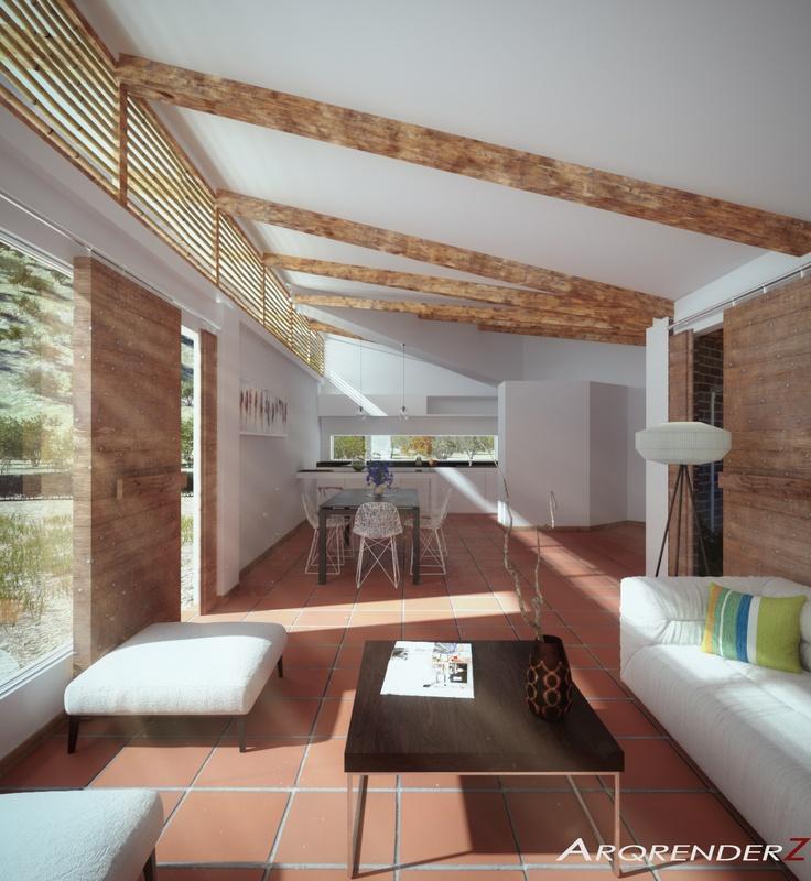 Render interior Casa Guerrero