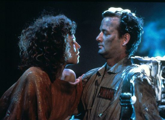Sigourney Weaver and Bill Murray in Ghostbusters (1984)
