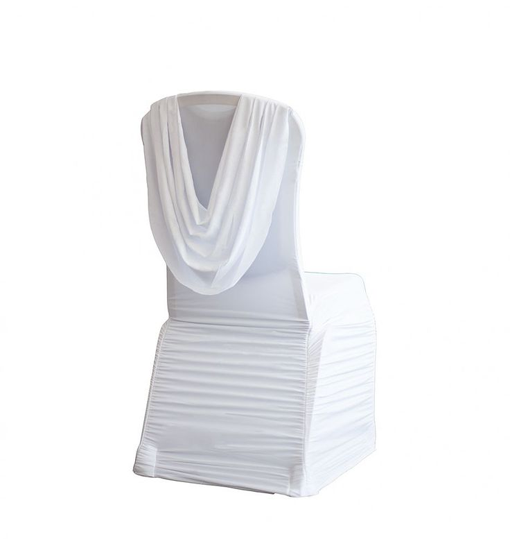 Buy Spandex Ruched Swag Back Chair Cover White From