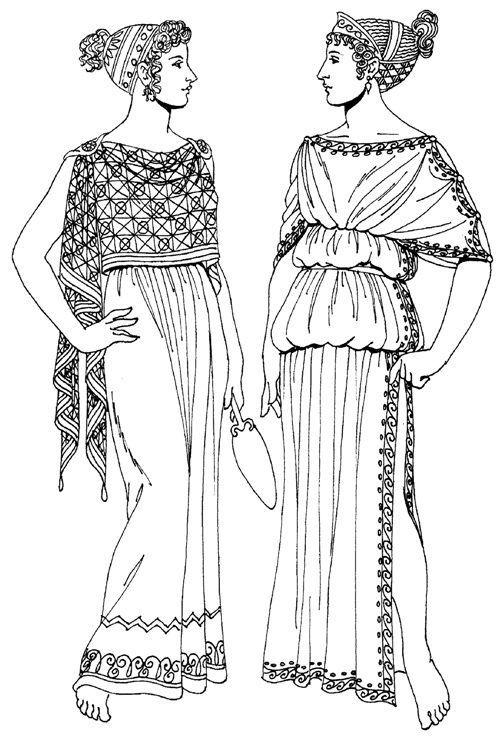женский греческий хитон. картинки Ancient greece wear http://mir-kostuma.com/ancient-greece/item/28-odezhda-kartinki