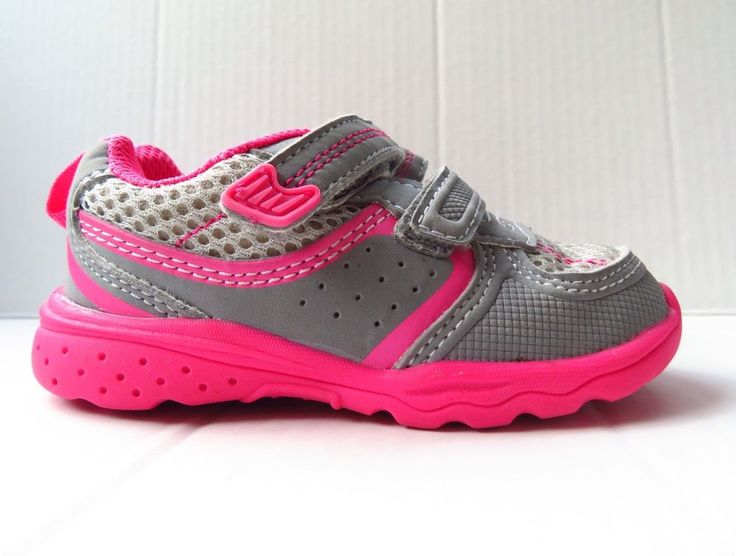 Child Of Mine (Carters) Pink And Gray Sneakers In Size 6 (Toddler)  | eBay