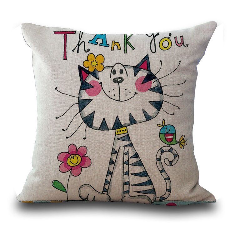 Zany Cat Home Decor Dorm Decor Pillowcase