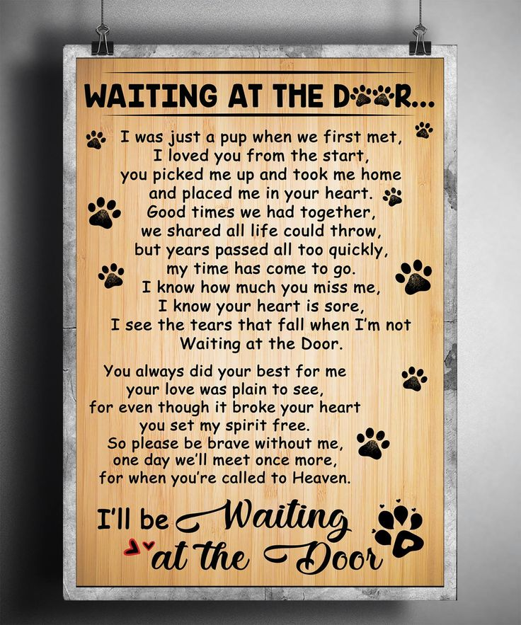 Waiting At The Door Poster Dog Poem Dog Paw In 2021 Remembrance Quotes Dog Poems Dog Lover Gifts