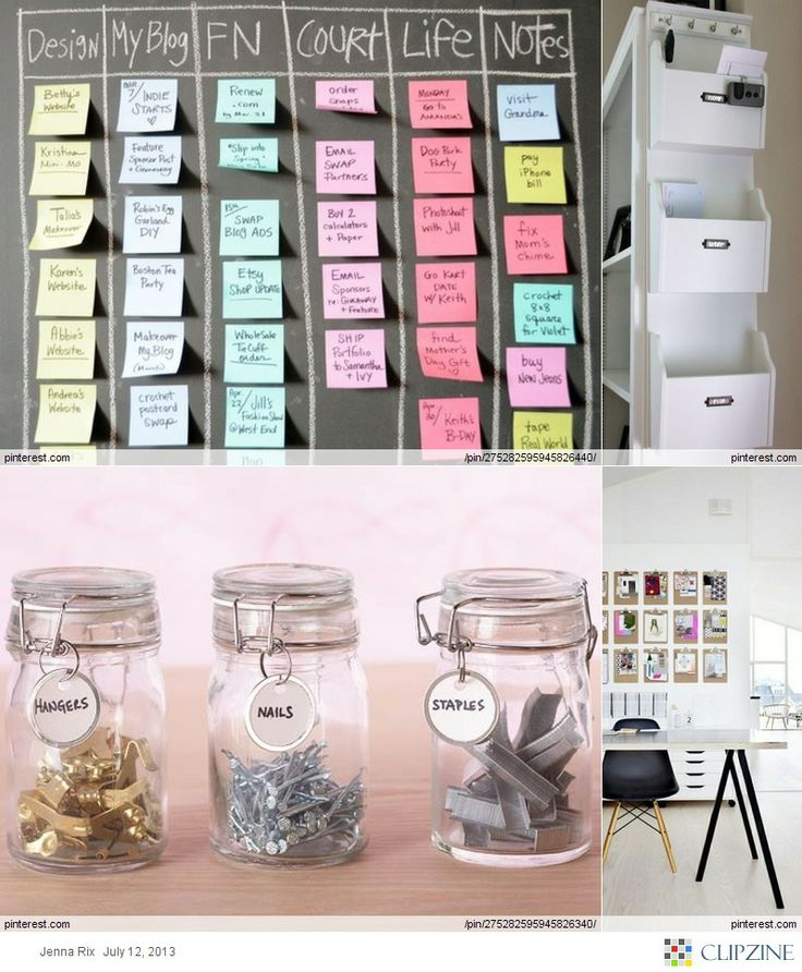 I only like the use of mason jars for organizing the little stuff... Paper clips, staples, and such.