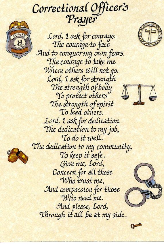 correctional officer prayer