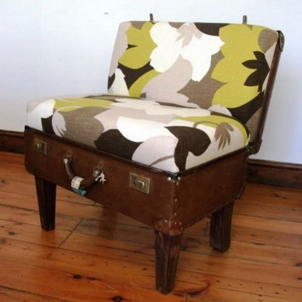 25 Best Ideas About Suitcase Chair On Pinterest Recycled Furniture Makeup Chair And